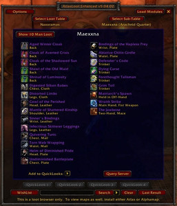 Аддон AtlasLoot Enhanced для WoW 7.1.5