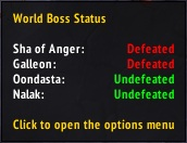 Аддон World Boss Status для WoW 7.3.0