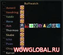 Аддон Buffwatch++ для WoW 6.2.4